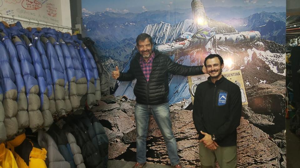Germán y Luciano en el rental de El Refugio
